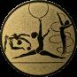 Emblem 25mm Kunstturnen, gold