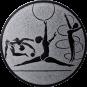 Emblem 25mm Kunstturnen, silber