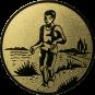 Emblem 25mm Laeufer am See, gold
