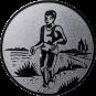 Emblem 25mm Laeufer am See, silber
