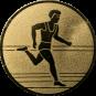Emblem 25mm Laeufer, gold
