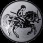 Emblem 25mm Lanzen-Reiter, silber