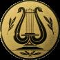 Emblem 25mm LYRA, gold