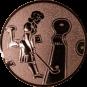 Emblem 25mm Minigolf weibl., bronze