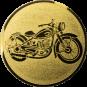 Emblem 25mm Motorrad, gold