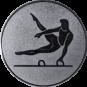 Emblem 25mm Pauschenpferd, silber