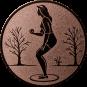 Emblem 25mm Petanque weibl., bronze
