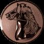 Emblem 25mm Pferd, bronze