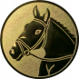 Emblem 25mm Pferdekopf, gold