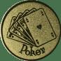 Emblem 25mm Poker, gold