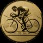 Emblem 25mm Rennrad, gold