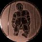 Emblem 25mm Rodeln, bronze