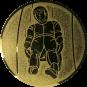 Emblem 25mm Rodeln, gold