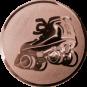 Emblem 25mm Rollschuh, bronze
