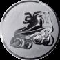 Emblem 25mm Rollschuh, silber