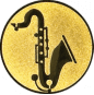 Emblem 25mm Saxophone, gold