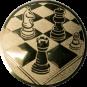 Emblem 25mm Schach, gold