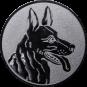 Emblem 25mm Schäferhund, silber