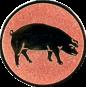 Emblem 25mm Schwein, bronze