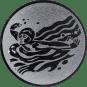 Emblem 25mm Schwimmer Schmetterling, silber