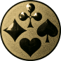 Emblem 25mm Skat, gold
