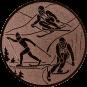 Emblem 25mm Ski, bronze