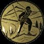 Emblem 25mm Ski Langlauf, gold