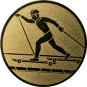 Emblem 25mm Skiroller, gold