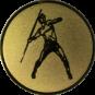 Emblem 25mm Speerwerfer, gold