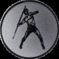 Emblem 25mm Speerwerfer, silber