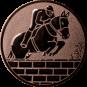 Emblem 25mm Springreiter Mauer, bronze