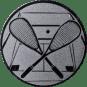 Emblem 25mm Squash, silber