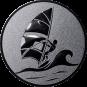 Emblem 25mm Surfer, silber