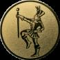 Emblem 25mm Tambourmajor, gold