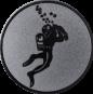 Emblem 25mm Taucher, silber