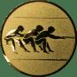 Emblem 25mm Tauziehen, gold