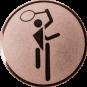 Emblem 25mm Tennis Symbol, bronze
