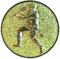 Emblem 25mm Tennisspieler, gold 3D