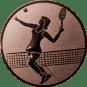 Emblem 25mm Tennisspielerin, bronze