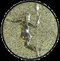 Emblem 50mm Tennisspielerin, gold 3D