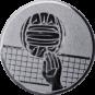 Emblem 25mm Volleyball mit Hand, silber