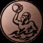 Emblem 25mm Werfer Wasserball, bronze