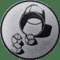 Emblem 25mm Würfelbecher, silber