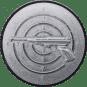 Emblem 25mm Zeilsch. Pistole 3D, silber schießen