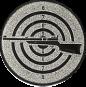 Emblem 50mm Zielsch. mit Gewehr links, silber schießen