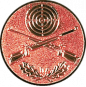 Emblem 50mm Zielsch. mit Gewehren u. Eichenlaub, bronze schießen