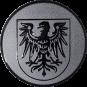 Emblem 50 mm Adlerwappen, silber