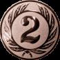 Emblem 50 mm Ehrenkranz mit 2, bronze