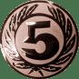 Emblem 50 mm Ehrenkranz mit 5, bronze