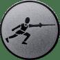 Emblem 50 mm Fechten, silber